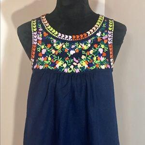 J Crew Linen Cotton Blend Summer Dress